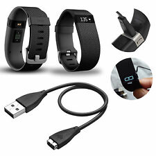 2 PCS USB Charging Cable Cord Charger For Fitbit Charge HR Bracelet Wristband