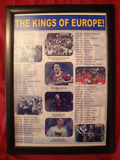 Champions League/European Cup winners 1956-2015 - framed print