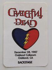 Grateful Dead Backstage Pass 12-28-87 Oakland Coliseum Rick Griffin Artwork
