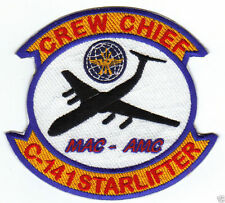 USAF C-141 STARLIFTER CREW CHIEF PATCH, MAC-AMC                                Y