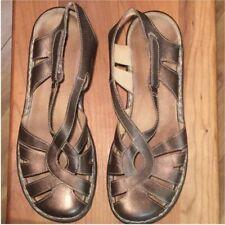 Clarks Copper bronze leather Active Air Straps Cutouts Size 10 Comfort Shoes