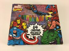 Marvel Comics : 64 Count Crayons with Built in Sharpener RARE