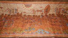 """33"""" x 74"""" Middle Eastern Hand Painted Canvas Wall Picture India Third Eye"""
