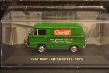 FIAT 850T Quercetti 1975 diecast van in scale 1/43