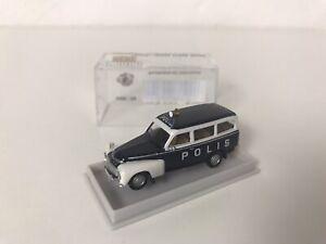 Brekina 1:87 Volvo Duett Kombi 'Polis' Modellauto Geschenk Weihnachten Sammeln