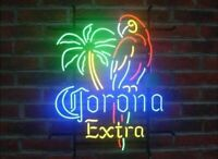 New Corona Extra Parrot Bird Left Palm Tree Neon Sign Beer Light FAST FREE SHIP