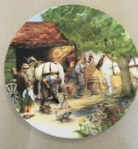 Royal Doulton Old Country Crafts The Blacksmith Plate by Susan Neale 21cm V810