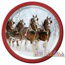 BUDWEISER CLYDESDALES LARGE PAPER PLATES (8) ~ Adult Birthday Party Supplies