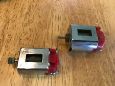 L0OK - strombecker lot of 2 16d  36 d motors - runs - pinion - c0ol