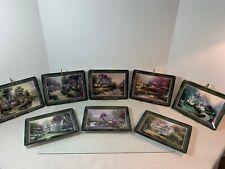 "Thomas Kinkade Complete Set of 8 ""Hometown Memories"" Plates - Avg $12.37 each"