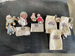 Lot of 5x Vintage Mini Bears Cottage Collectibles Ganz Sue Becky, Kelly, Tammie