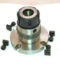 ER 25 COLLET CHUCK ON MOUNTING PLATE SUITABLE FOR ROTARY TABLE ETC FROM CHRONOS