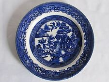 03D46 ANCIENNE ASSIETTE DÉCORS CHINE XIXe / ANTIQUE BLUE WILLOW PLATE 19th CHINA