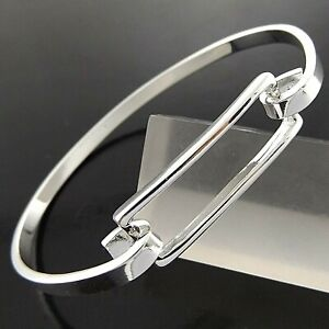 Bangle Bracelet Real 925 Sterling Silver Filled Solid Ladies Bespoke Cuff Style