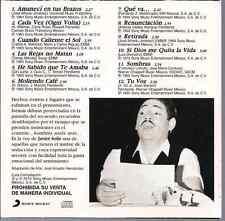rare BOLERO 60s 70s CD slip JAVIER SOLIS Sombras AMANECI EN TUS BRAZOS retirada