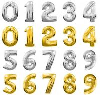 """Foil Number Balloons Silver Gold 30"""" Large - Birthday Party Anniversary Numbers"""