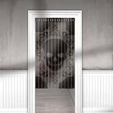 Halloween Skull & Lace Door Curtain Hanging Decoration