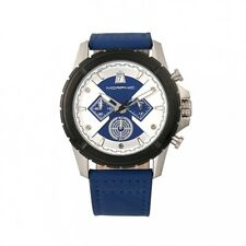 Morphic M57 Series Men's Chronograph Blue Genuine Leather Silver Watch 5702