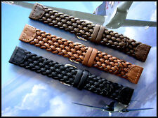 20mm Black Hand Braided Woven Military Pilot watch band strap IW SUISSE 12-14-19