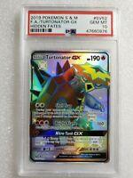 Pokemon Turtonator GX SV52 Full Art Secret Rare Hidden Fates PSA 10 Gem Mint 🔥