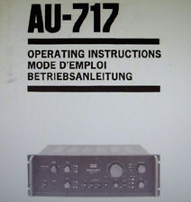 SANSUI AU-717 int Stéréo AMP operating instructions ANGLAIS FRANCAIS und Deutsch