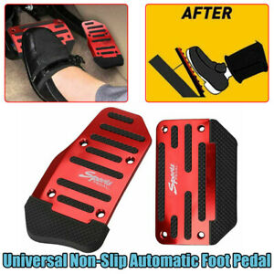 Universal Red Non-Slip Automatic Gas Brake Foot Pedal Pad Cover Accessories Kit