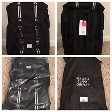 NWT 100% Authentic HERSCHEL Supply Little America Large Black Canvas Backpack