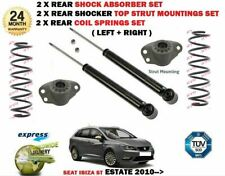FOR SEAT IBIZA ST Estate 2010-> 2x REAR SHOCK ABSORBERS + COIL SPRING + MOUNTING