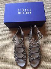 Stuart Weitzman Athens Metallic Gladiator Sandals Size 6.5