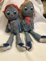"Vintage Pair Of Levi's Dolls- Boy & Girl 1970's 17"" by Knickerbocker Toy Co"