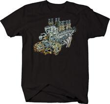 Big Block V8 Muscle Car Motor Engine Garage Mechanic  T Shirt