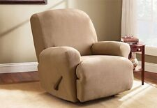 sure fit Stretch Pearson Recliner Slipcover One Piece Machine Washable tan