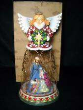 "Jim Shore ""Divine"" Wire Christmas Angel w/ Holy Family Excellent w/ Original Box"