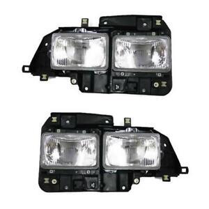 Front Head Lamp Light Pair For Isuzu ELF NPR 115 NKR 120 Truck 1993 94 1995