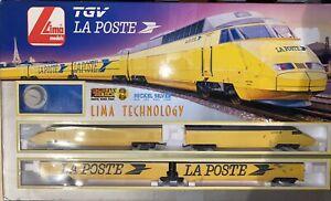 Tgv Lima Technology La Poste Ho H0 Coffret Train Locomotive 4 Elements