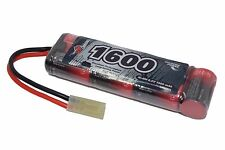 8.4 v 1600mah 2 / 3a nimh mini rechargeable battery pack aeg, airsoft vapextech uk