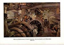 """Blick in den Maschinenraum des Dampfers """"Columbus"""" von F.Schwormstädt von 1925"""