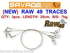 SAVAGE GEAR RAW 49 WIRE LURE TRACES FOR SEA GAME COARSE FISHING SPINNING LURES