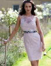 Vestido de encaje Lipsy VIP tamaño 10 Flores Lápiz desnuda Fiesta Boda Ocasión RP £ 120