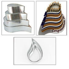 EURO TINS 4 Backformen Tropfen für mehrstöckige Hochzeitstorte - 4er-Set