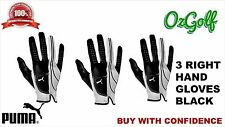 COBRA PUMA  FORM STRIPE GOLF GLOVE RIGHT HANDED FOR LEFTHAND GOLFERS ML 3PACK