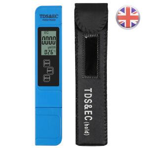 UK TDS&EC Meter Tester Digital Electric Conductivity Hydroponics Water Test Pen