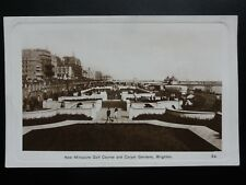 Sussex: Brighton, New Miniature Golf Course and Carpet Garden - Old RP Postcard