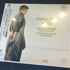 New Isabelle Faust Plays Brahms 3 SACD Single Layer japan EMS Shipping