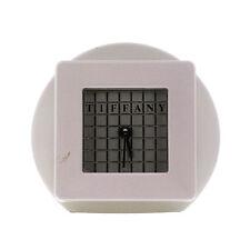 RARE Matteo Thun for Tiffany&Co. Silver-Tone Quartz Desk Clock/Paperweight