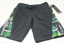 "O'NEILL ""EXCLUSIVE"" DESIGNER BLACK SURF/SWIM/BOARD SHORTS size 32"