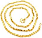 Mix Chain Link 22K 24K Thai Baht Yellow Gold Plated GP Necklace 25 inch Jewelry