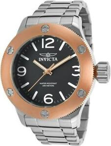 Invicta 18581 Russian Diver 52mm Big Bold Rose Black Stainless Steel Mens Watch