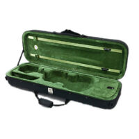 Deluxe Quality 4/4 Size Acoustic Violin Fiddle Case Black and Green w/ Strap NEW