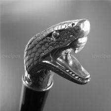 Walking Stick CANE SILVER-Snake Serpent - 925 feinversilbert-Canne